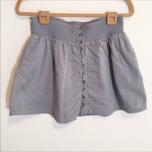 American Eagle Outfitters Gray Button Mini Skirt